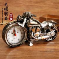 创意摩托车闹钟 时尚复古闹钟 摩托车模型闹钟