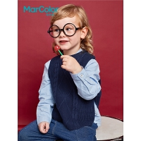 【1件2折】巴拉巴拉旗下马卡乐纯棉儿童针织背心春秋新款男女宝宝百搭马甲