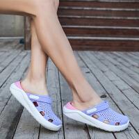 鸟巢拖鞋洞洞鞋沙滩鞋女拖鞋海边厚底防滑凉拖鞋塑胶花园鞋度假鞋