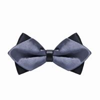 男士韩式英伦蝴蝶结时尚灰领结男士伴郎新郎衬衫三角时尚灰领结