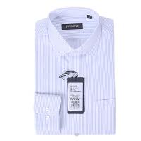youngor/雅戈尔 新品长袖衬衣 VP11461QQQ男士商务休闲白底条纹免熨长袖衬衣