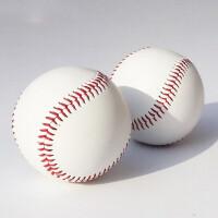 棒球运动用品手工缝纫硬式实心中小学生练习考试练习训练比赛用球 手缝实心硬球 1个
