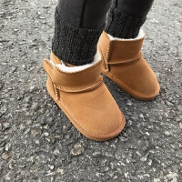 儿童加绒加厚雪地靴短靴冬季百搭潮宝宝靴1-3岁鞋女童鞋子