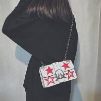 包包女2018新款潮时尚明星同款小方包斜挎包百搭斜挎链条包燕子包