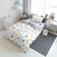???三件套 床单被罩单人学生宿舍床上用品一件 0.9-1.2米床【床单155*210cm