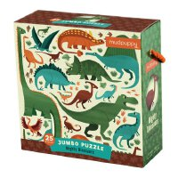 Mighty Dinosaurs Jumbo Puzzle 英文原版 25块超大拼图:大恐龙 儿童启蒙益智玩具 进口礼