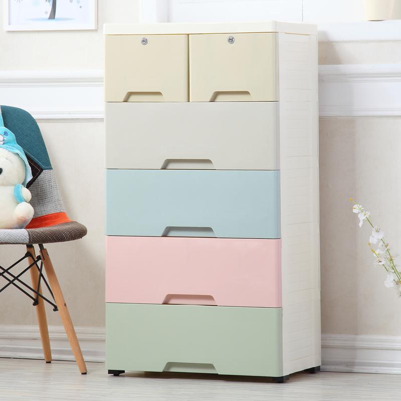 特大号收纳箱抽屉式储物柜儿童衣服收纳柜宝宝柜子塑料整理柜