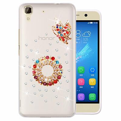华为荣耀畅玩4A手机套SCL-TL00/CL00/AL00保护套手机壳硅胶软水钻