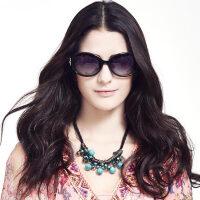 恋上(LianSan)偏光太阳镜女款 大框时尚修脸彩膜水钻韩版驾驶镜墨镜 GD103