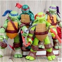 人偶摆件公仔儿童玩具套装忍者神龟武器手办模型 关节可动
