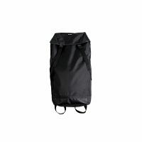 大空间背包双肩包男旅行尼龙防水潮牌日系书包水桶包 黑色 (黑色飘带)