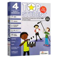 美国加州教辅 优等生系列练习册小学四年级 英文原版 Top Student Grade 4 英语数学STEM科学计算机社