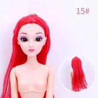 ?芭比娃娃裸体素体芭比娃娃6关节12关节烘焙装饰娃娃通用用品? 13D真眼