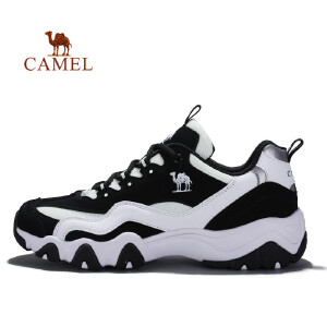 骆驼牌 情侣款厚底运动鞋休闲跑步鞋透气减震防滑男女跑步鞋