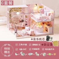 智趣屋diy小屋手工制作迷你房子模型拼装木制玩具创意生日礼物女