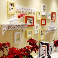 【支持礼品卡】欧式实木照片墙装饰画创意组合卧室客厅挂墙相框地中海相片墙 kt3