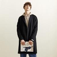 【1件3折到手价:235.5】美特斯邦威毛呢大衣男冬季男装休闲青年外套羊毛大衣男宋威龙同款