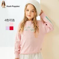 【2件5折:129】暇步士童装女童线衣2020春装新款儿童上衣棉洋气毛衣中大童针织衫