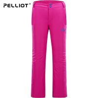 法国PELLIOT/伯希和 滑雪裤女 秋冬户外登山冲锋裤防水透气修身滑雪裤