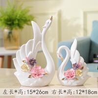 创意家居房间室内摆设客厅装饰工艺品酒柜摆件卧室结婚礼物小天鹅