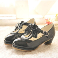 女童皮鞋中大童T字带儿童秋鞋春秋款韩版公主女童高跟单鞋