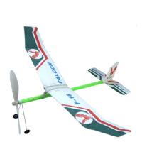 橡皮筋动力飞机模型轻骑士拼装航空橡筋动力滑翔机航模