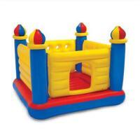 四方城堡跳跳床室内弹跳床玩具蹦床带护网儿童跳跳床家用折叠充气乐园
