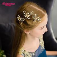 女孩发叉发夹饰品儿童发饰头饰韩式女童头花发夹花朵