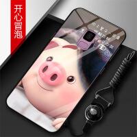 三星s9plus手机壳s9plus玻璃手机壳男女新款个性创意潮牌