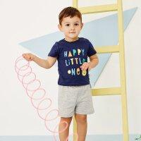 【1件2.5折到手价:42.3】moomoo童装男幼童套装2018夏季新款小童宝宝短袖短裤两件套