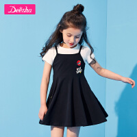 【限时秒杀:70】笛莎女童套装2019夏装新款两件套套装中大童小女孩运动裙套装