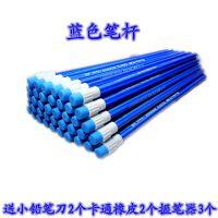 原木hb铅笔带橡皮擦六角儿童小学生写字铅笔文具批发100支装