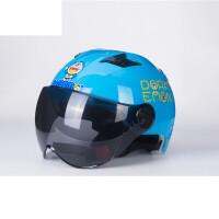 电动车头盔女士可爱摩托车头盔男四季夏季防晒轻便式电瓶车帽 均码