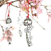 日式和风金属镂空风铃书签唯美浪漫樱花文具diy贺卡*