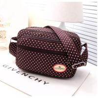 帆布时尚可爱波点便当包饭盒袋韩国创意午餐袋帆布手拎包 卡其色