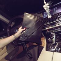 新款韩版男女士手抓包 潮流个性皮质手拿包 休闲信封单肩文件包