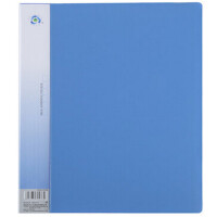 齐心NF10AK 蓝色资料夹文件夹A4资料册10/20/30/40页 文件夹多层颜色随机