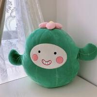 仙人掌抱枕毛绒玩具靠枕布娃娃可爱睡觉抱枕玩偶儿童女生生日礼物 绿色