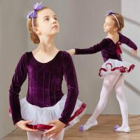 春秋舞蹈服装儿童长袖演出服少儿练功考级服幼儿芭蕾舞裙女