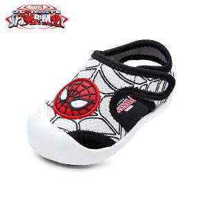 【清仓特惠】迪士尼Disney童鞋2018新款婴幼童学步鞋蜘蛛侠男童宝宝鞋时尚包头儿童凉鞋(0-4岁可选) DZ0205