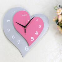 静音挂钟个性时尚创意钟表客厅卧室心形挂表时钟 14英寸