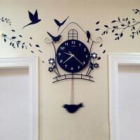20180512074959985欧式钟表挂钟客厅简约时尚挂表创意时钟现代夜光静音石英钟 20英寸