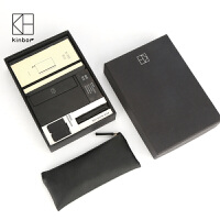 广博kinbor黑执事商务礼品套装A5/A6皮面本笔记本办公文具套装 套装