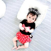 女婴儿T恤衣服夏天宝宝夏装男新生儿套装0短袖短裤3个月6夏季1岁