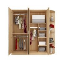 卧室衣柜实木质简约现代4门板式衣橱整体定制大衣柜经济型o4v