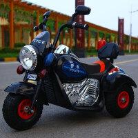 W 儿童电动摩托车三轮车可坐人男女孩可充电小孩遥控车小宝宝玩具车K10 黑色・双电机大电瓶・皮座+遥控 充气轮
