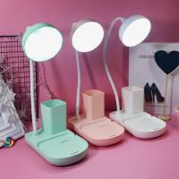 LED护眼台灯可充电大学生儿童宿舍书桌学习写字小台灯USB床头灯