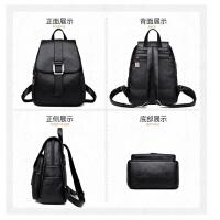 新款潮韩版时尚百搭女士双肩包休闲2018软皮个性小清新背包