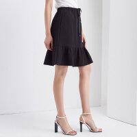 【全场2件2.5折,到手价:52.5】美特斯邦威半身裙女新款韩版A字半裙短裙秋季上新