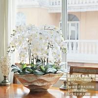 和家超大全手感蝴蝶兰盆栽 仿真花套装 假花卉玄关客厅摆件装饰品